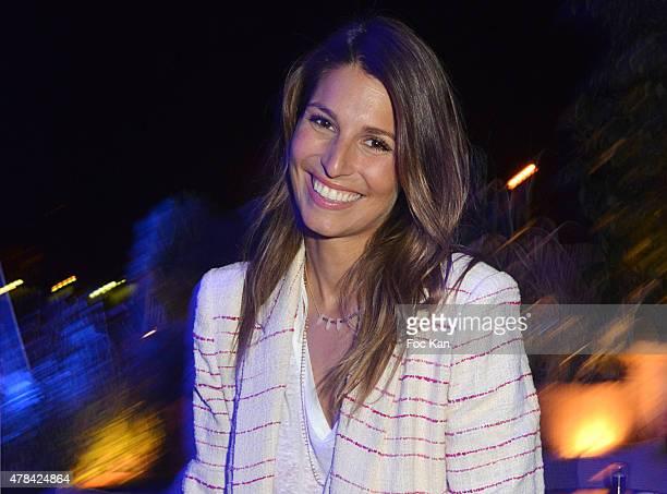 Laury Thilleman attends the 'Hublot Blue' cocktail party At Monsieur Bleu Palais De Tokyo on June 24 2015 in Paris France
