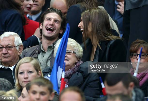 Laury Thilleman attends the international friendly match between France and Norway at Stade de France on May 27 2014 in SaintDenis near Paris France