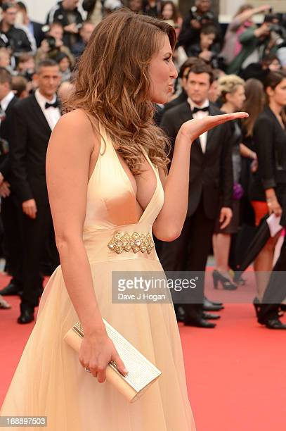 Laury Thilleman attends the 'Jeune Jolie' premiere during The 66th Annual Cannes Film Festival at the Palais des Festivals on May 16 2013 in Cannes...