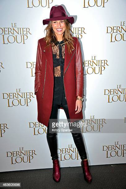 Laury Thilleman attends the 'Le Dernier Loup' Paris Premiere at Cinema UGC Normandie on February 16 2015 in Paris France