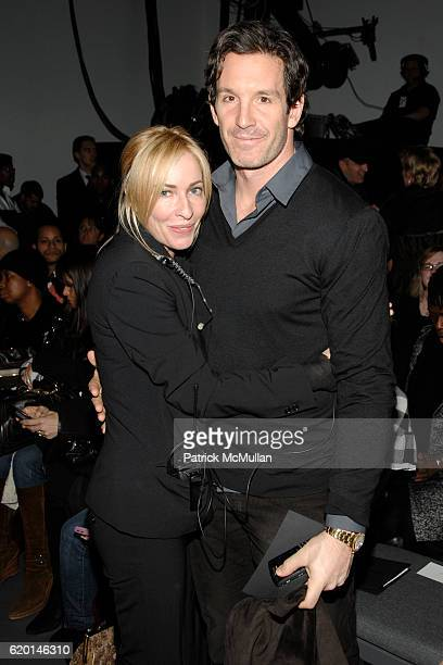 Lauryn Flynn and Brendan Shanahan attend CALVIN KLEIN COLLECTION Fall 2008 Fashion Show at Calvin Klein Inc on February 7 2008 in New York City