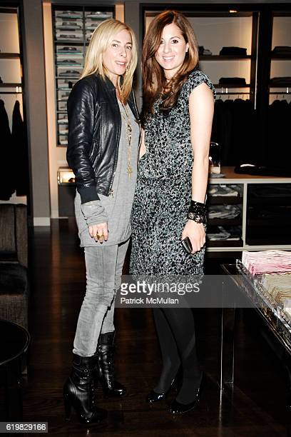 Lauryn Flynn and Elena Sapienza attend Burberry and Men's Vogue Celebrate the Launch of Estate 1127 by Peter Saville at Burberry on October 1 2008 in...
