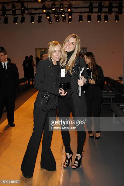 Lauryn Flynn and Lily Seidler attend CALVIN KLEIN COLLECTION Fall 2008 Fashion Show at Calvin Klein Inc on February 7 2008 in New York City