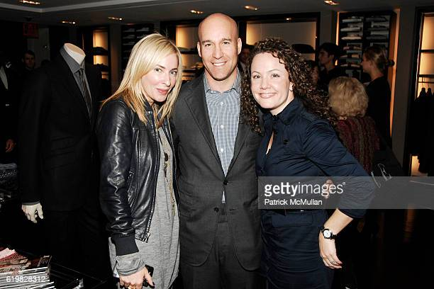 Lauryn Flynn Marc Berger and Geri Moran attend Burberry and Men's Vogue Celebrate the Launch of Estate 1127 by Peter Saville at Burberry on October 1...