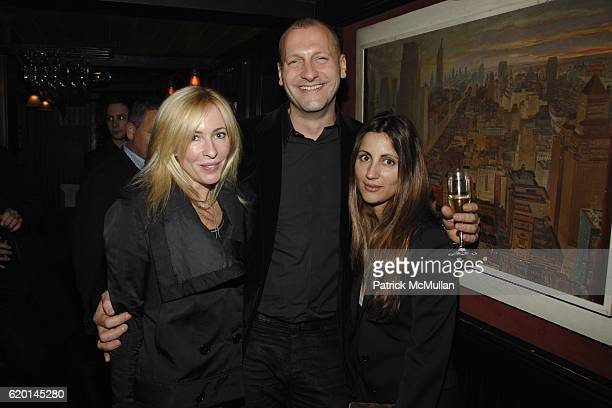 Lauryn Flynn Ulrich Grimm and Vasoula Barbagiannis attend CALVIN KLEIN COLLECTION Fall 2008 Post Show Dinner at Waverly Inn on February 7 2008 in New...