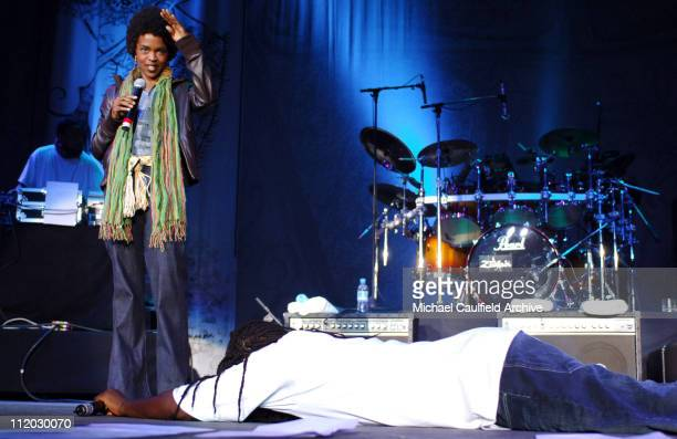 Lauryn Hill and Wyclef Jean during Force of Nature Concert for Tsunami Aid Show at Stadium Putra in Kuala Lumpur Malaysia