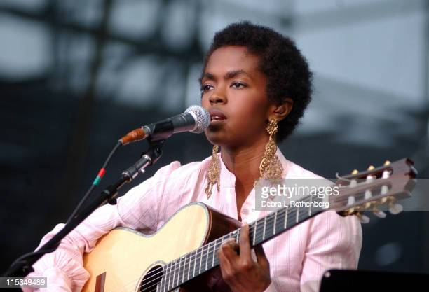 Lauryn Hill during Lauryn Hill in Concert August 4 2002 at Jones Beach in Wantaugh New York United States