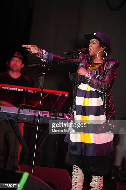 Lauryn Hill performs at Chene Park on June 4 2011 in Detroit Michigan