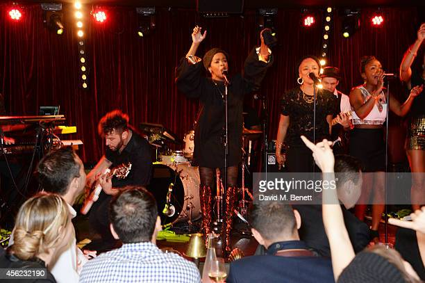 Lauryn Hill performs at the Dover Street Arts Club on September 27 2014 in London England