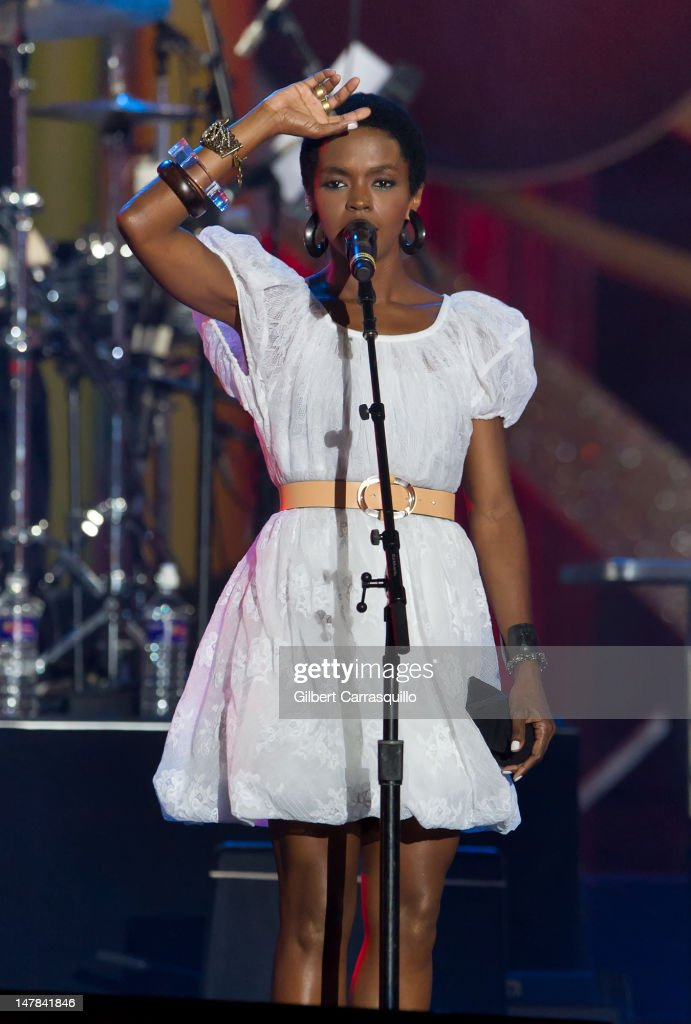 Lauryn Hill performs at the Philly Fourth Of July Jam at Benjamin Franklin Parkway on July 4, 2012 in Philadelphia, Pennsylvania.