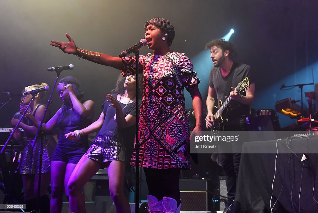Lauryn Hill performs during the Superjam onstage at The Other Tent during day 3 of the 2014 Bonnaroo Arts And Music Festival on June 14, 2014 in Manchester, Tennessee.