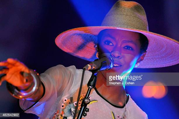 Lauryn Hill performs in concert at Iroquois Amphitheater on July 22 2014 in Louisville Kentucky