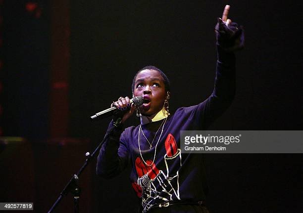 Lauryn Hill performs live for fans at Palais Theatre on May 21 2014 in Melbourne Australia