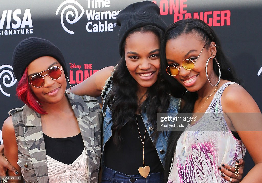 Lauryn McClain, China Anne McClain and Sierra Aylina McClain attend 'The Lone Ranger' Los Angeles premiere at Disney California Adventure Park on June 22, 2013 in Anaheim, California.