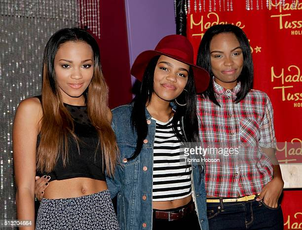 Lauryn McClain China Anne McClain and Sierra McClain of the McClain sisters attend the One Direction wax figure launch at Madame Tussauds on November...