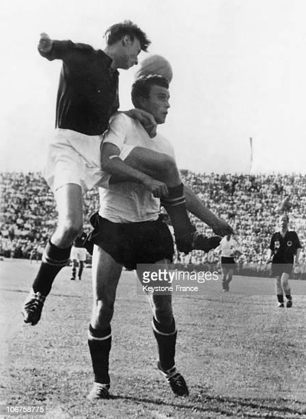 Lausanne Football World Cup Quarter Final In June 1954 Austria Win S Over Switzerland An Action