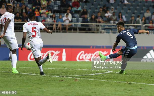 Lautaro Martinez of Argentina scores their second goal during the FIFA U20 World Cup Korea Republic 2017 group A match between Guinea and Argentina...