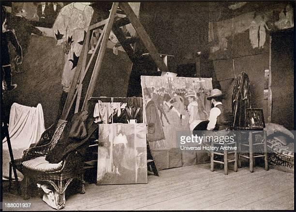 Lautrec In His Studio Rue Caulaincourt 1890 Henri Marie Raymond De ToulouseLautrec Monfa 18641901 French Painter Printmaker Draftsman And Illustrator...