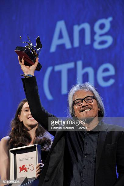 Lav Diaz attends the Closing Ceremony during the 73rd Venice Film Festival at Palazzo del Cinema on September 10 2016 in Venice Italy