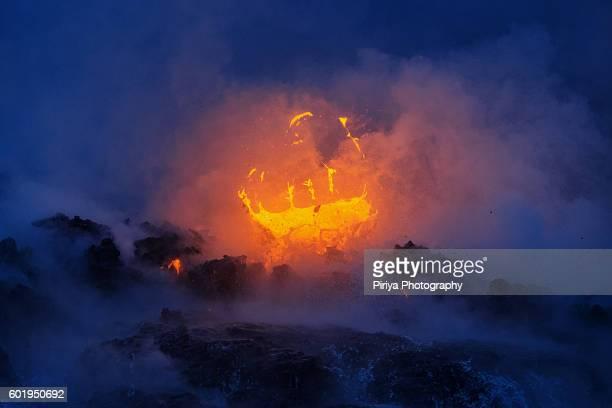 Lava explode