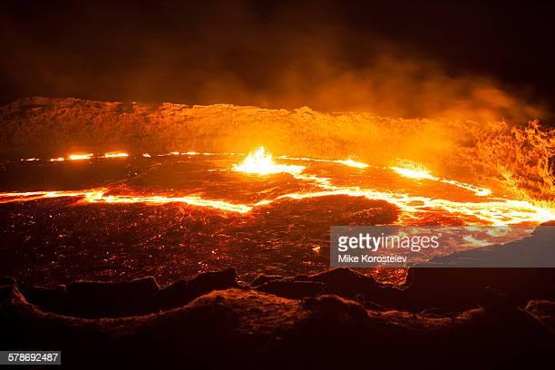 Lava lake of Erta Ale volcano in Ethiopia
