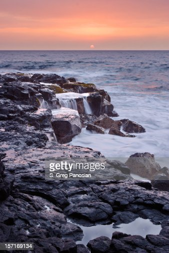 Lava rock coastline