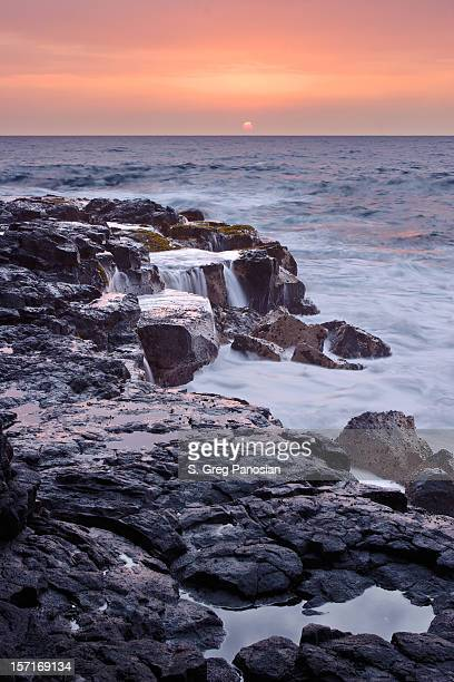 Lava rock coastline