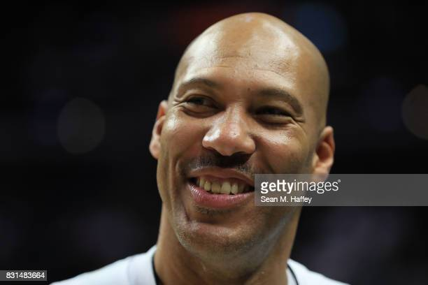 LaVar Ball attends week eight of the BIG3 three on three basketball league at Staples Center on August 13 2017 in Los Angeles California