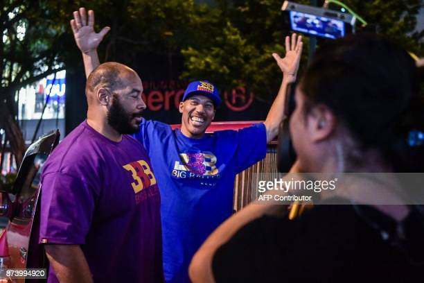 LaVar Ball father of basketball player LiAngelo Ball and the owner of the Big Baller brand arrives for a promotional event in Hong Kong on November...