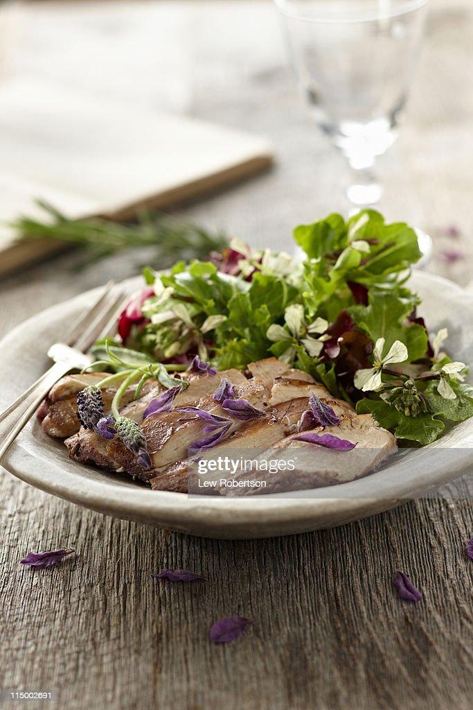 Lavender Chicken : Stock Photo