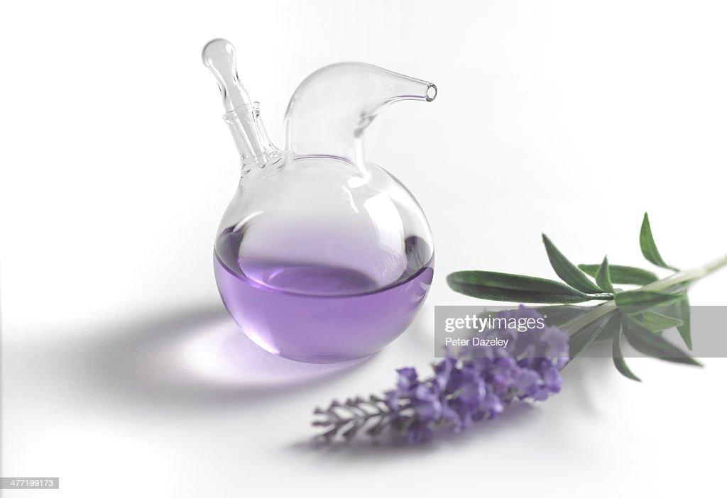 Lavender perfume close-up