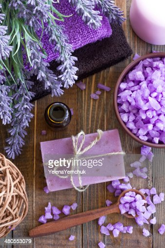 Lavender spa : Stock Photo