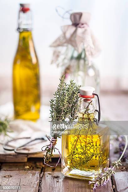 Lavender vinegar, rosemary oil and thyme oil