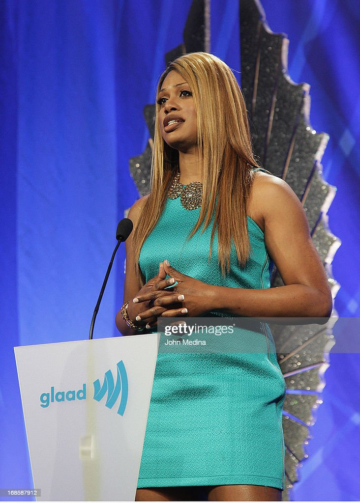 Laverne Cox addresses the attendees the 24th Annual GLAAD Media Awards at the Hilton San Francisco - Union Square on May 11, 2013 in San Francisco, California.