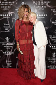 Laverne Cox and Joanna Coles attend the 2016 Fragrance Foundation Awards presented by Hearst Magazines on June 7 2016 in New York City
