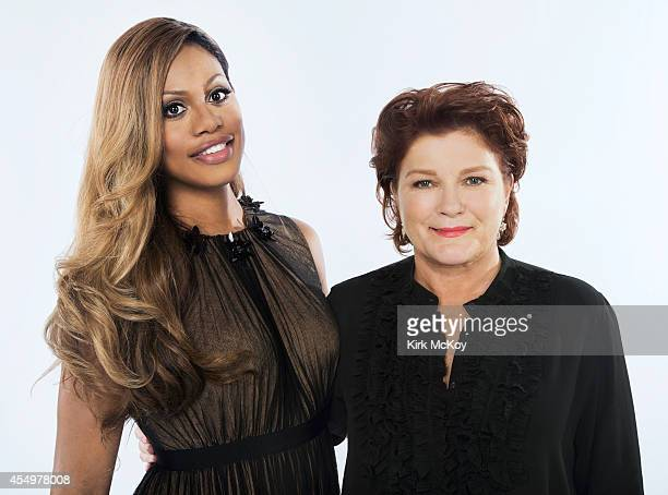 LaVerne Cox and Kate Mulgrew are photographed for Los Angeles Times on August 25 2014 in Los Angeles California PUBLISHED IMAGE CREDIT MUST BE Kirk...