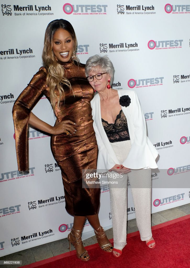 Laverne Cox and Rita Moreno at the 13th Annual Outfest Legacy Awards at Vibiana on October 22, 2017 in Los Angeles, California.