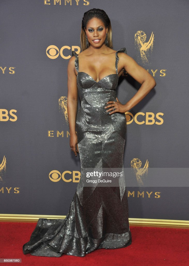Laverne Cox arrives at the 69th Annual Primetime Emmy Awards at Microsoft Theater on September 17, 2017 in Los Angeles, California.