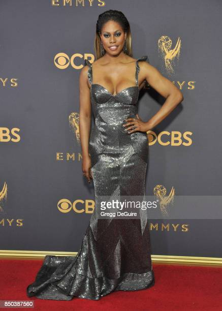 Laverne Cox arrives at the 69th Annual Primetime Emmy Awards at Microsoft Theater on September 17 2017 in Los Angeles California