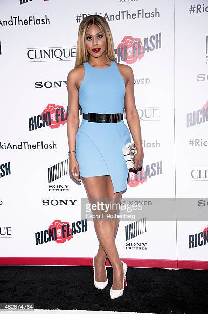 Laverne Cox arrives at the New York premiere of 'Ricki And The Flash' at AMC Lincoln Square Theater on August 3 2015 in New York City