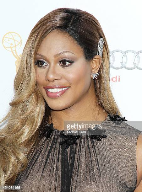 Laverne Cox arrives at the Television Academy Performers Nominee Reception for The 66th Emmy Awards held at Spectra by Wolfgang Puck at the Pacific...