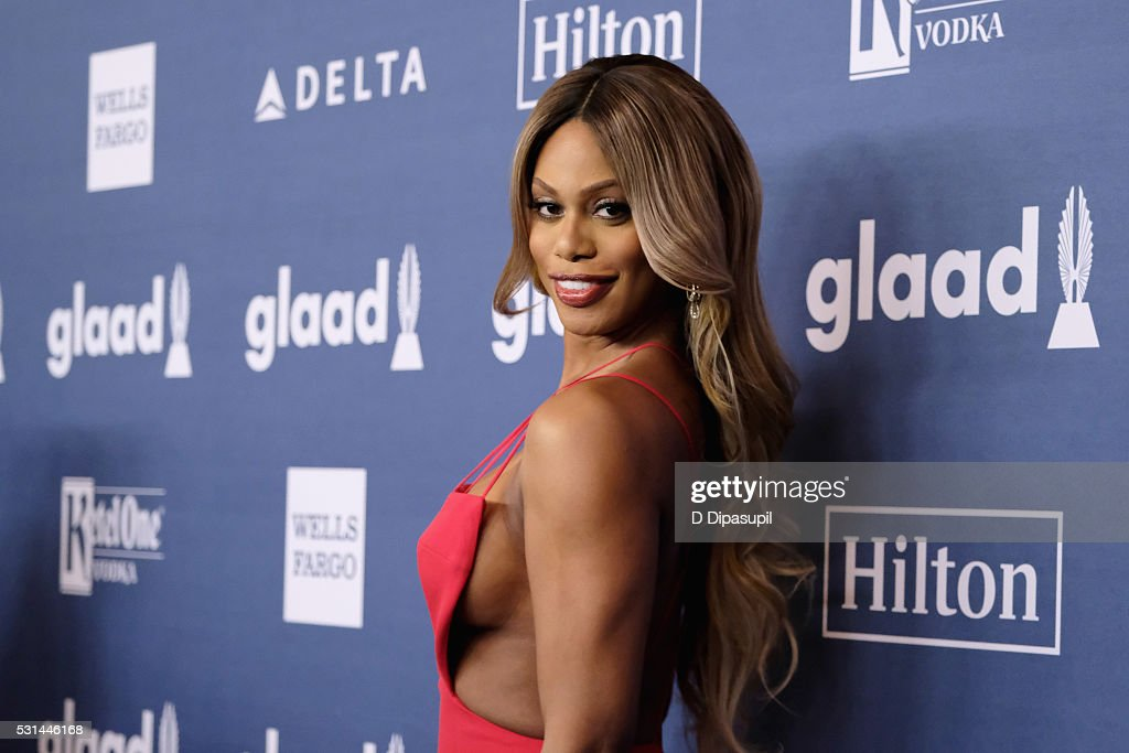 Laverne Cox attends at The 27th Annual GLAAD Media Awards with Hilton at Waldorf Astoria Hotel on May 14, 2016 in New York City.