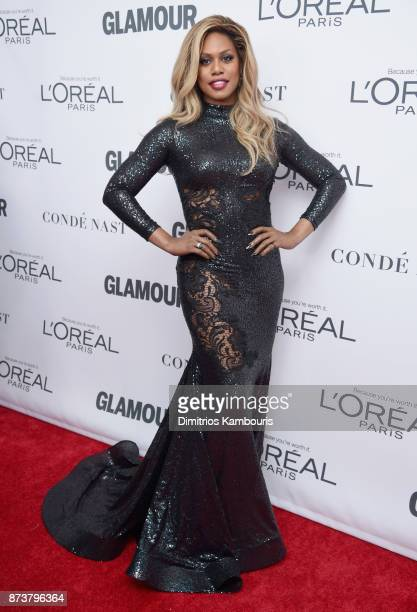Laverne Cox attends Glamour's 2017 Women of The Year Awards at Kings Theatre on November 13 2017 in Brooklyn New York