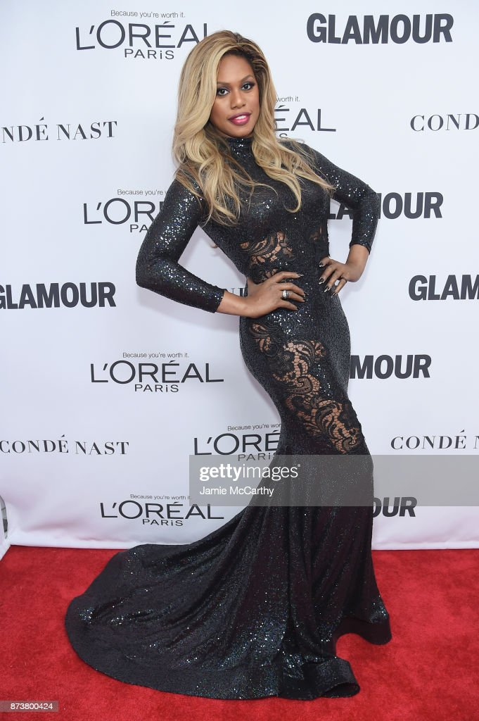Laverne Cox attends Glamour's 2017 Women of The Year Awards at Kings Theatre on November 13, 2017 in Brooklyn, New York.