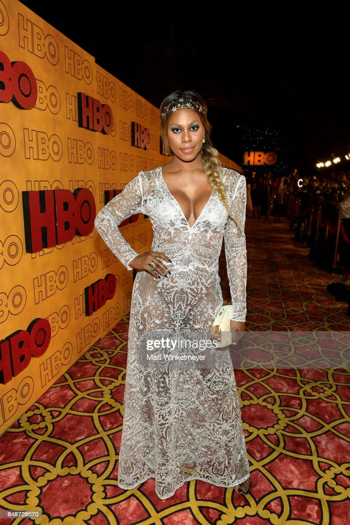Laverne Cox attends HBO's Post Emmy Awards Reception at The Plaza at the Pacific Design Center on September 17, 2017 in Los Angeles, California.