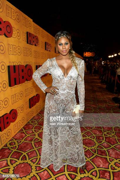 Laverne Cox attends HBO's Post Emmy Awards Reception at The Plaza at the Pacific Design Center on September 17 2017 in Los Angeles California