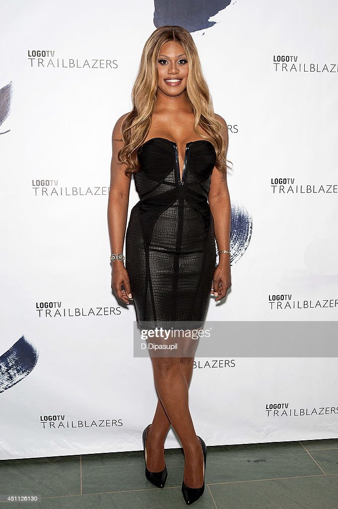 <a gi-track='captionPersonalityLinkClicked' href=/galleries/search?phrase=Laverne+Cox&family=editorial&specificpeople=5848606 ng-click='$event.stopPropagation()'>Laverne Cox</a> attends LOGO TV's 1st Annual Trailblazers event at the Cathedral of St. John the Divine on June 23, 2014 in New York City.