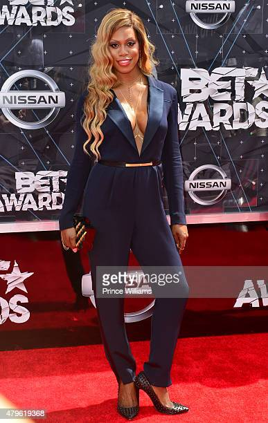 Laverne Cox attends the 2015 BET Awards on June 28 2015 in Los Angeles California