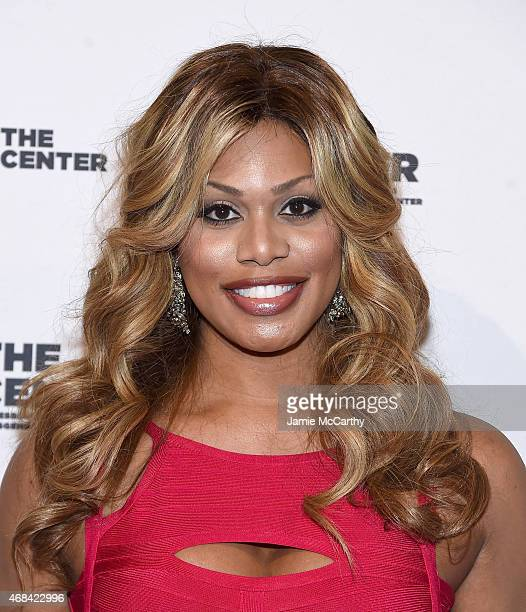 Laverne Cox attends The 2015 Center Dinner at Cipriani Wall Street on April 2 2015 in New York City