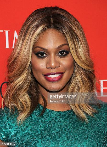Laverne Cox attends the 2015 Time 100 Gala at Frederick P Rose Hall Jazz at Lincoln Center on April 21 2015 in New York City